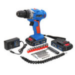 New 28V 18+1 Gear 2 Speed Electric Screwdriver Cordless Power Drills Driver Tools With Batteries Accessories
