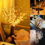 New LED Tree Branch Lamp Floral Lights Party Home Decor Holiday Birthday Gift LED Night Light