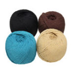 New 4 Colors 4mm 110m Natural Cotton Twisted Cord Rope Macrame Linen Jute DIY Braided Wire Hand Craft