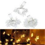 New Battery Powered 1M 2M 5M Transparent Unicorn LED String Light  Wedding Holiday Christmas Decor IP65