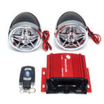 New SKUniversal Motorcycle Audio Remote Sound System Support SD USB MP3 FM Radio Player Anti-Theft