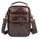 New Oil Wax Genuine Leather Vintage Crossbody Bag