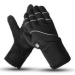 New 7.4V 2200mah Electrically Heated Motorcycle Gloves Motorcycle Winter Warmer Reflective Strips Back