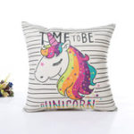 New Unicorn Pillow Case Polyester Home Throw Pillows Soft Decorative Cushion Cover For Sofa Chair Pillow Cover