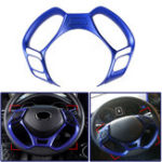 New Car Interior Steering Wheel Button Covers Trim Blue Decoration for Toyota C-HR 2016 2017 2018 2019