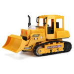 New 1/24 RC Bulldozer LED Remote Control Excavator Digger Car Toy Tractor Kids Gifts