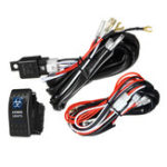 New 12V/24V 300W 40A LED Illuminated Backlit Rocker Switch + Relay Fuse Wiring Kit SUV 4WD Waterproof