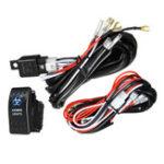 New 12V/24V 300W 40A LED Illuminated Backlit Rocker Switch + Relay Fuse Wiring Kit SUV 4WD Waterproof