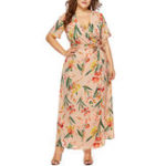 New Plus Size Floral Print V-neck Bohemian Women Long Dress