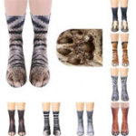New 1Pair 3D Animals Print Adult Unisex Crew Long Socks Soft Casual Cute Cotton Socks Cosplay
