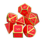 New 7Pc Solid Metal Heavy Dice Set Polyhedral Dice Role Playing Games Dices Gadget RPG Dices Set