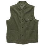 New Men Solid Color Corduroy Pockets Vest