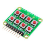 New Micro Switch 2×4 Matrix Keyboard 8 Bit Keyboard External Keyboard Expansion Board Module