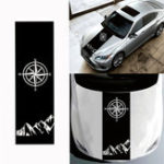 New 130x40cm Compass Pattern Car Hood Stickers Vinyl Decals Universal for Jeep for Wrangler Rubicon JK C