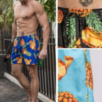New Mens Summer Pineapple Printing Shorts