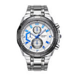 New LONGBO 80135 Stainless Steel Band Luminous Men Quartz Watch