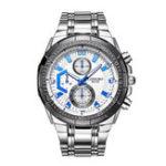 New LONGBO 80135 Stainless Steel Band Luminous Men Quartz Watch