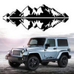 New 76x16cm Snow Mountain Car Stickers Vinyl Decal Auto Body Truck Tailgate Window Door Universal