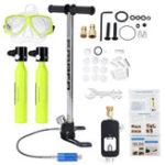 New 8 Set MINI Portable Scuba Diving Equipment 2Pcs Spare Oxygen Air Tank Breath 10Min Diving Set