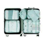New 6 Pcs Storage Bag Waterproof Travel Luggage Clothes Organizer Toiletries Bag