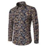 New Mens Cotton Flower Printing Design Shirts