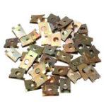 New 50pcs U-Type Clips For Bronze Tone Metal Spring Plate Car Door Panel Spire Fender Screw Fastener Nut