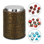 New 7 Pcs Polyhedral Dices With Dice Cup Role Playing Game Dices Set RPG MTG Desk Game Multisided Dices