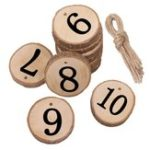 New 10Pcs/Lot Laser Engraving Wooden Number Hanging Table Cards Wedding Party Decor Reception Pendant
