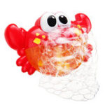 New 24 Music Baby Tub Crab Automatic Bubble Blower Bubble Maker Machine Song Bath Toy Gift