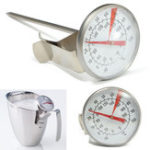 New Stainless Steel Coffee Milk Frothing Candy Liqued Probe Thermometer Clip