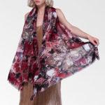 New Vintage Women Vintage Lightweight Floral Print Shawl