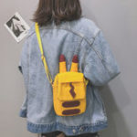 New Women Canvas Hip-hop Cartoon Shape Shoulder Bag Phone Bag