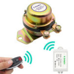 New KTNNKG Car Battery Switch Wireless Remote Control Disconnect Latching Relay Electromagnetic Solenoid Valve Terminal Master Kill System