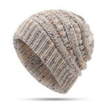 New Womens Winter Knit Ponytail Hat with Scarf Suit Ski Beanie