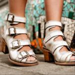 New Large Size Chunky Heel Peep Toe Outdoor Heeled Sandals