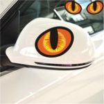 New 3D Evil Cat Eyes Car Rearview Mirror Stickers PVC Funny Look Window Decal Accessories