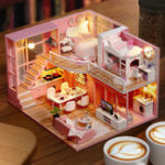 New Cuteroom L026 Dream Angle DIY Doll House With Furniture Light Gift House Toy 24.5cm