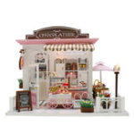 New Doll House Kit DIY Miniature Wooden Handmade House Cake Shop Kids Craft Toys