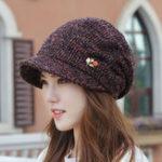 New Women Winter Vintage Thicken Earmuffs Painter Knit Beret Cap