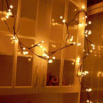 New Tree Vine Lamp Copper Wire String Flexible LED Mains Socket Micro Silver Wire Copper Fairy String Light