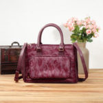 New Brenice Women Multi-Pockets Casual Ostrich Pattern Bag