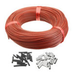 New 33Ohm Infrared Heating Floor Heating Cable System 100M PTFE Carbon Fiber Wire Electric Floor Hotline Thickening