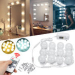 New 12PCS Hollywood LED Bulbs Vanity Makeup Mirror Light Dressing Dimmable Bulb + Remote Control Set