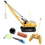 New Huina Toys 91115 1/14 2.4G 12CH Rc Tower Crane 680 Degree Rotation With LED Light Model Toys