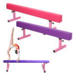 New 1.8M 6ft High Gymnastics Balance Beam Gym Airtrack Fitness Training Exercise Tools Equipment