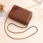 New Women Faux Leather Fashion Pleated Bag Multi-Slots