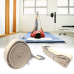 New KALOAD 300cm Pure Cotton Pilates Yoga Stretch Belt D-Ring Buckle Training Pull Up Assist Fitness Exercise Yoga Resistance Bands