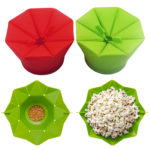 New Popcorn Popper Maker DIY Silicone Popcorn Maker Fold Bucket Red Kitchen Storage Container