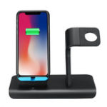 New 10W 2 In 1 Qi Wireless Charger Fast Charging Phone Watch Holder For iPhone Samsung Huawei Apple Watch Series