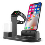 New 3 In 1 Aluminum Alloy Charging Dock Station Phone Holder For iPhone Apple AirPods Apple Watch Series